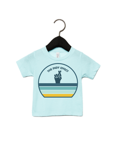 Indy Effect Circle - INFANT Heather Ice Blue Triblend Shirt