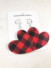 Load image into Gallery viewer, Red/Blk Plaid