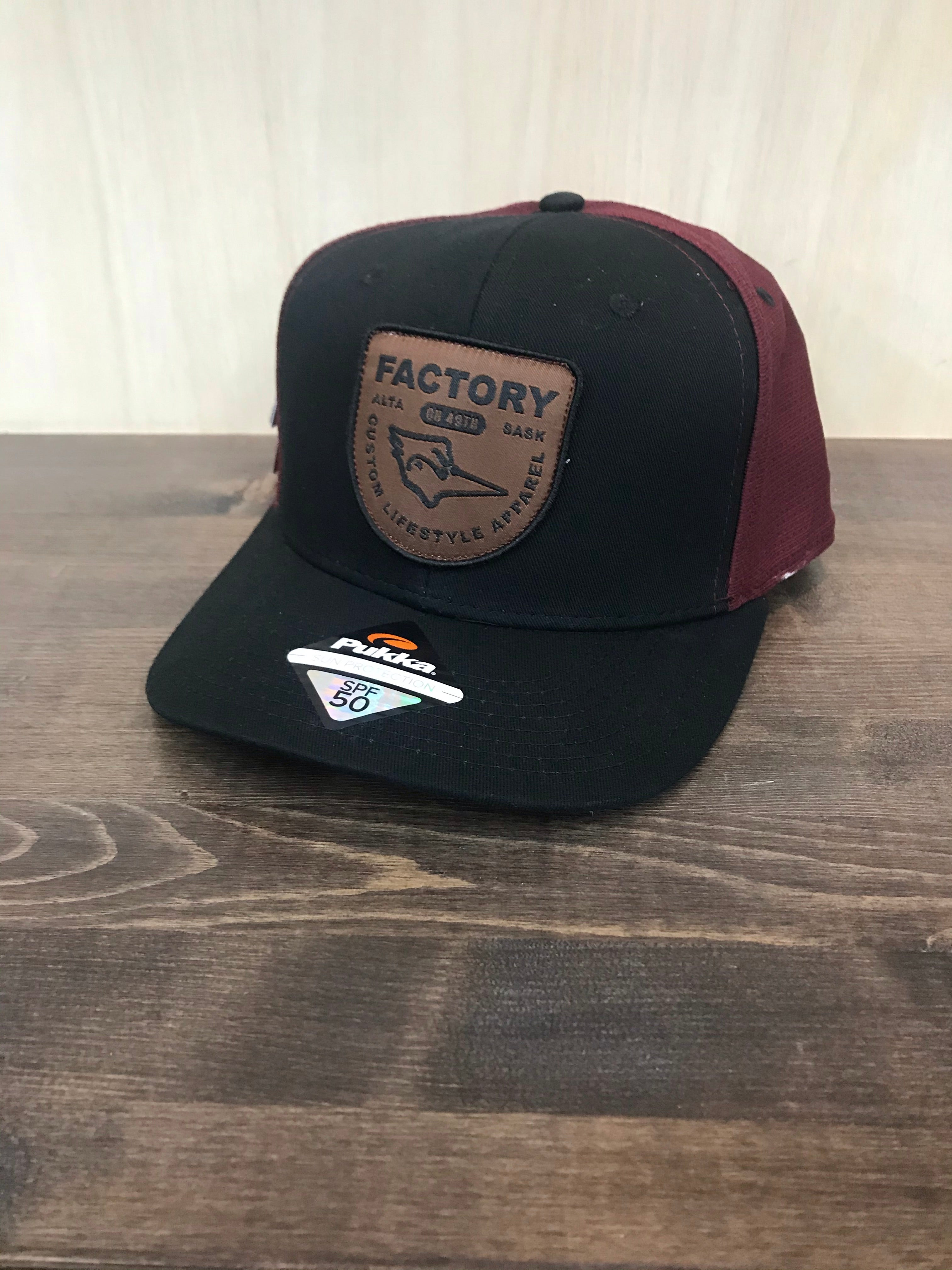 Factory Hat - Black/Burgandy