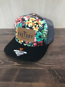 Factory Hat - Floral/Grey