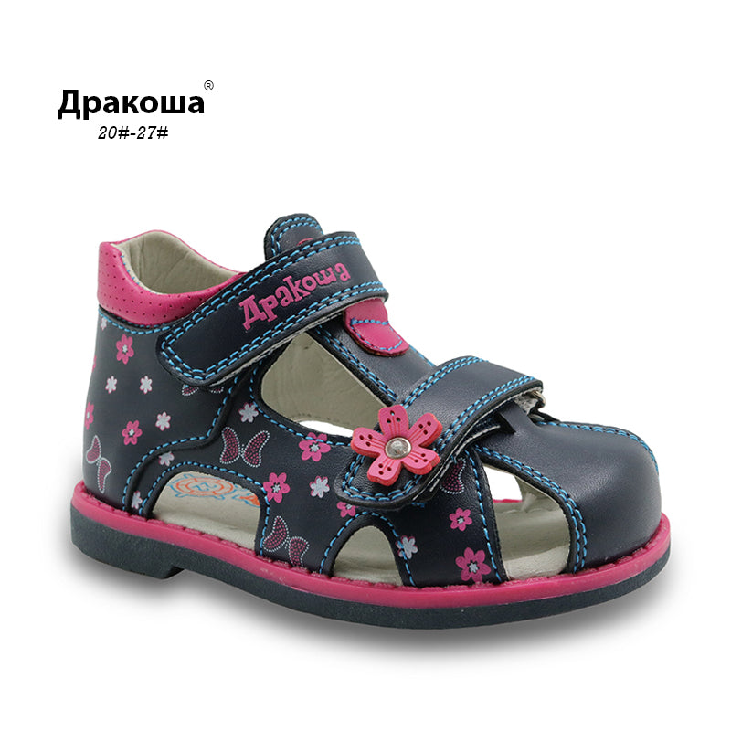 Apakwa Orthopedic PU Leather Sandals Butterfly with Arch Support