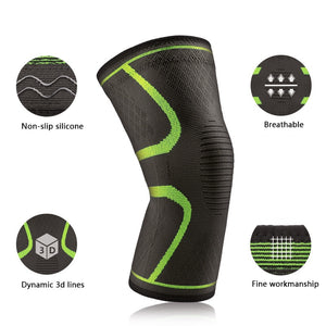 3D athletic knee support compression sleeves
