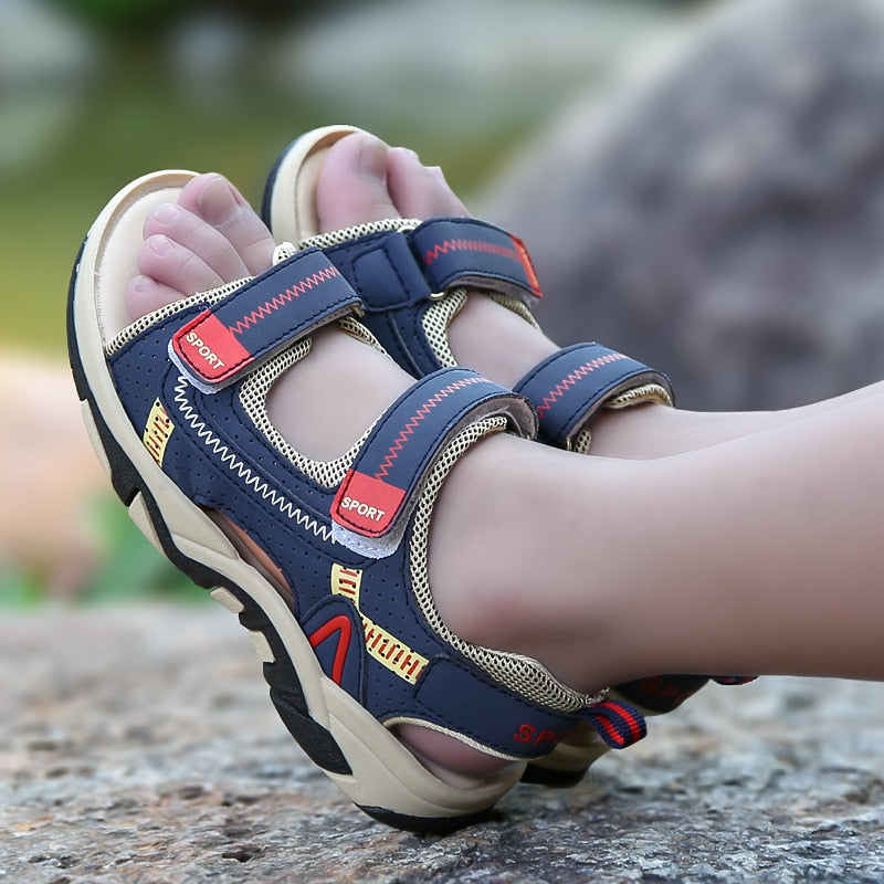 Orthopedic baby shoes Summer Sandals PU Leather