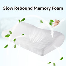 Load image into Gallery viewer, Memory Foam Pillow Orthopedic Sleeping Beding Pillows Butterfly Shaped Ergonomic Cervical Pillow Comfortable Neck protection