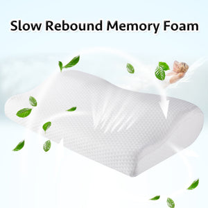 Memory Foam Pillow Orthopedic Sleeping Beding Pillows Butterfly Shaped Ergonomic Cervical Pillow Comfortable Neck protection