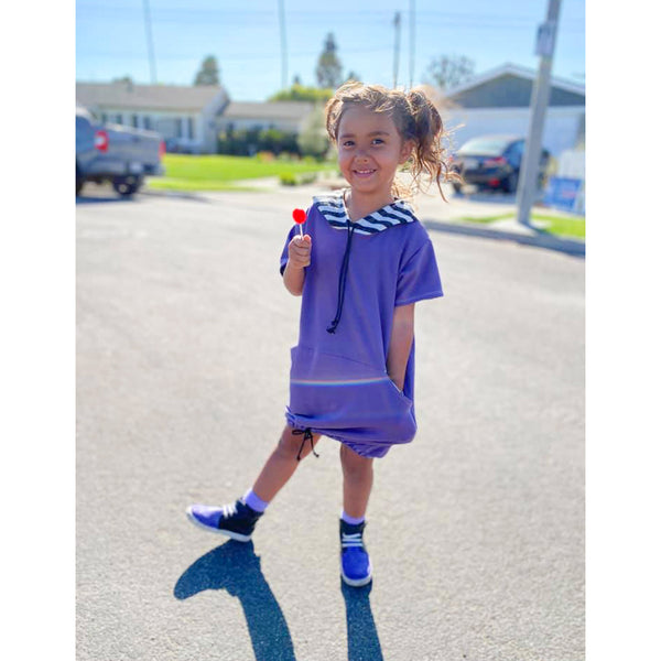 short sleeve hooded dress for kids
