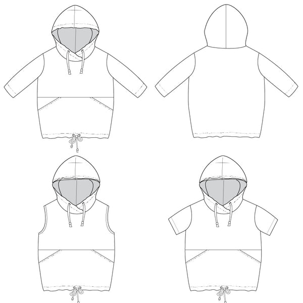 hooded dress sewing pattern
