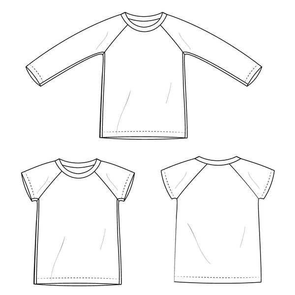 raglan t-shirt sketch