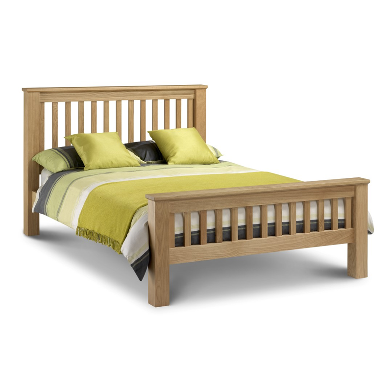 Julian Bowen Amsterdam High Foot End Bed Double Size Oak