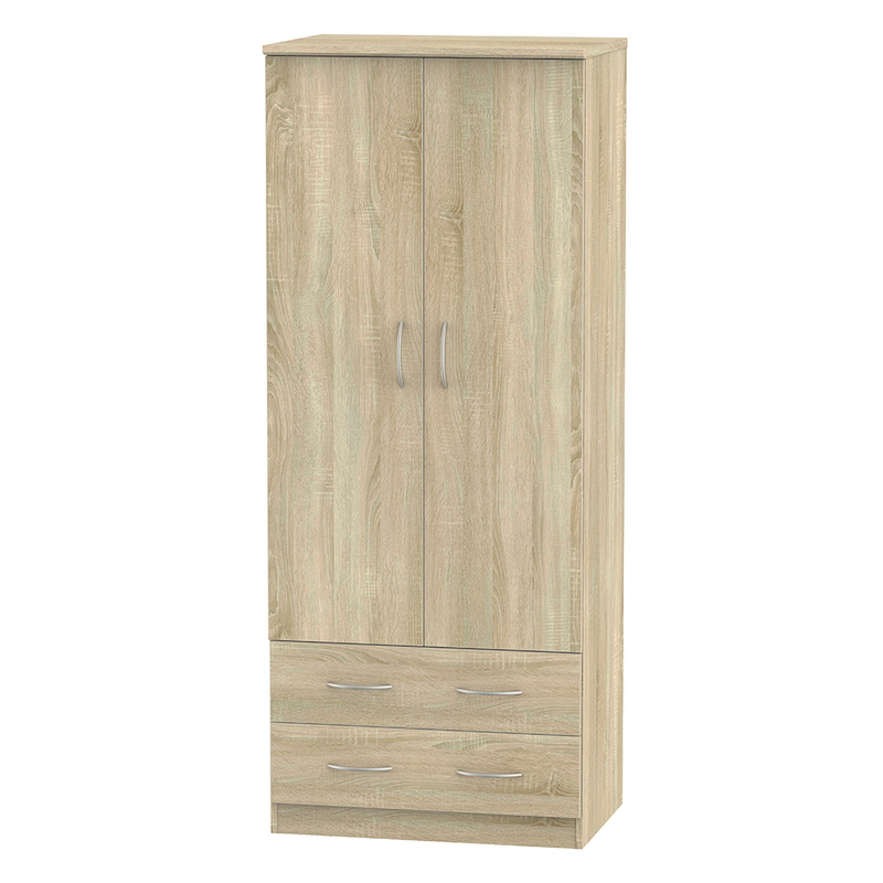 Welcome Furniture Avon 2'6 2 Drawer Wardrobe