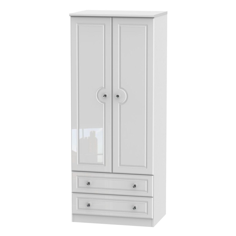 Welcome Furniture Balmoral Tall 2'6 2 Drawer Wardrobe