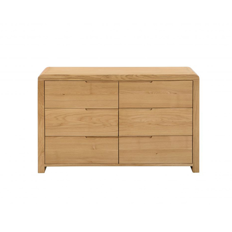 Julian Bowen Curve 6 Drawer Wide Chest