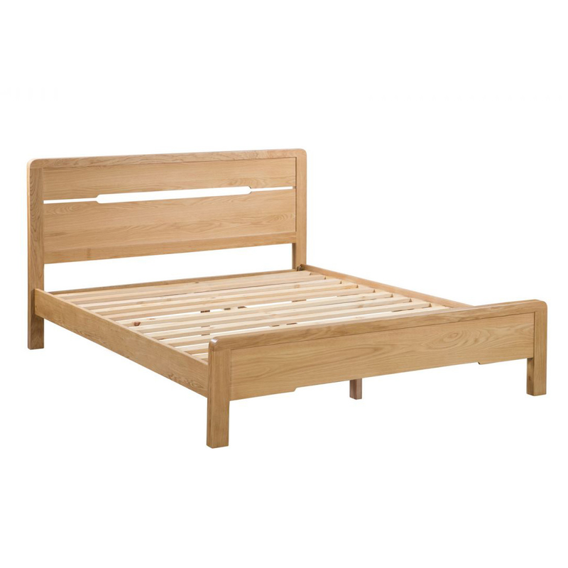 Julian Bowen Curve Bed Double Size Oak