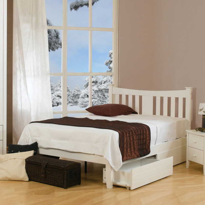 Sweet Dreams Kingfisher Bed Small Double Size White