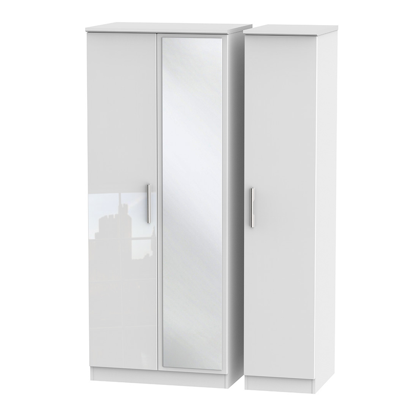 Welcome Furniture Knightsbridge Tall Triple Mirror Wardrobe