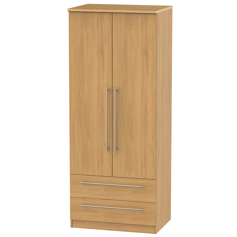 Welcome Furniture Sherwood Tall 2'6 2 Drawer Wardrobe