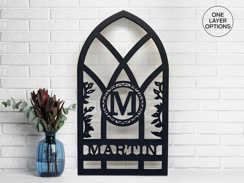 Arch Window Monograms