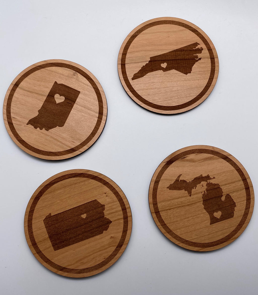 State Coasters - Set of 4