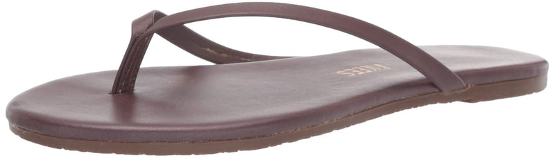 TKEES Women's Foundations Shimmer Leather Thong Sandals Flip Flops