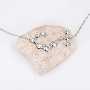 espere Sterling Silver Zodiac Necklace Constellation Jewelry Birthday Gift Sorority Sister Gift [Scopio - Oct 23 - Nov 21]
