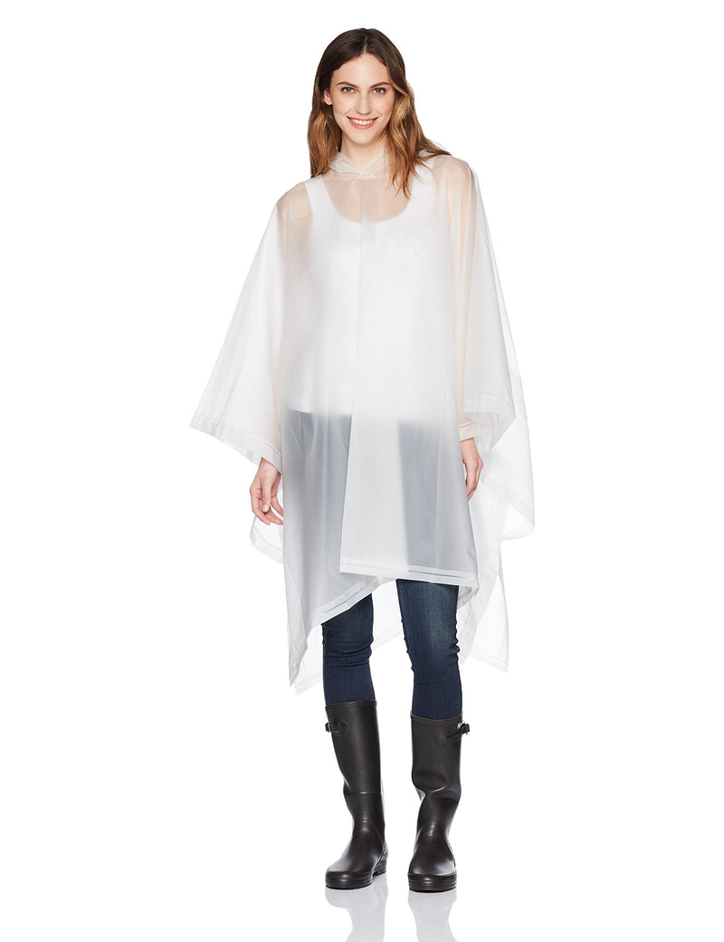 Totes Adult's Unisex Rain Poncho, clear, One Size