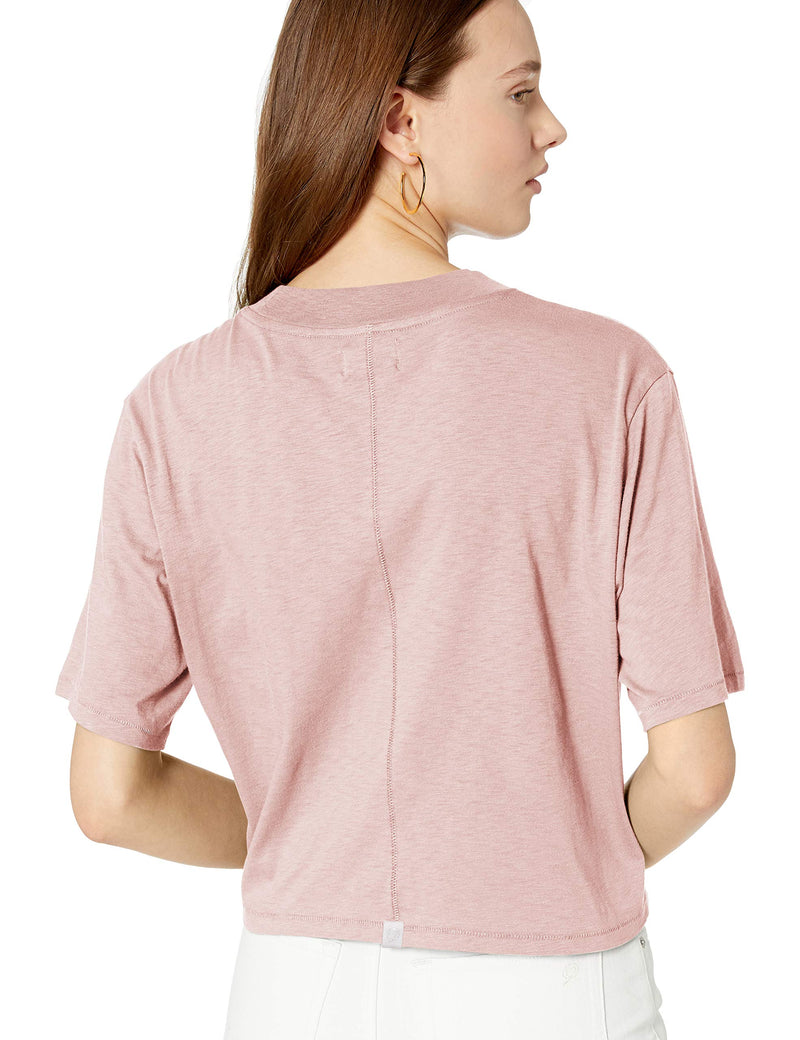 The Drop Women's Sydney Short-Sleeve Cropped Crew Neck T-Shirt