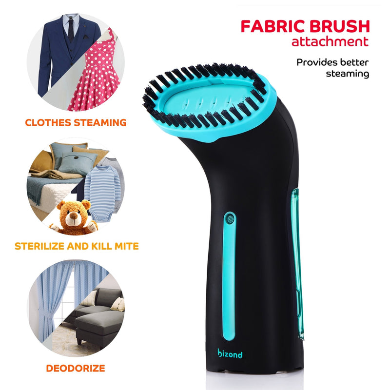 Steamer for Clothes Travel and Home - Portable, Handheld Steamer for Garment and Fabric - No Spitting, Safe and Little Handy - Compact Mini Steamer for Clothing, Curtain with Accessories (black)