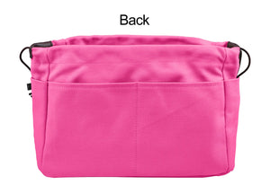 Vercord Canvas Handbag Organizers, Sturdy Purse Insert Organizer Bag in Bag, 13 Pockets 4 Colors Rose Large