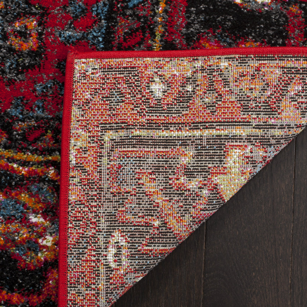 Safavieh Vintage Hamadan Collection VTH211A Antiqued Oriental Red and Multi Area Rug (8' x 10')