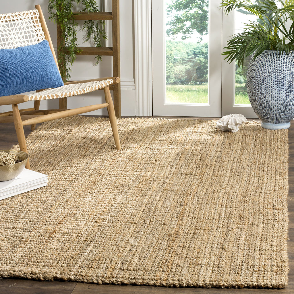 Safavieh Natural Fiber Collection NF747A Hand Woven Natural Jute Area Rug (11' x 16')