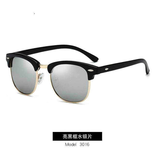 Polarized Sunglasses Men Women RB3016 Brand Design Eye Sun Glasses Women Semi Rimless Classic Men Sunglasses Oculos De Sol UV400