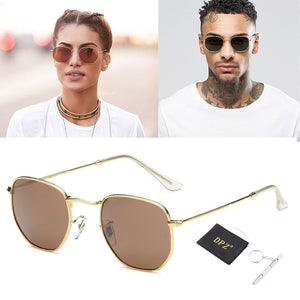 DPZ 2019 Fashion Polygon Frame Metal Round 3548 Style rayeds Sunglasses Vintage Classic Brand Design Sun Glasses Oculos De Sol