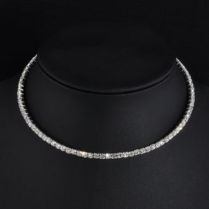 5 styles Rhinestone Choker Necklaces Torques Collar Women Statement Jewelry