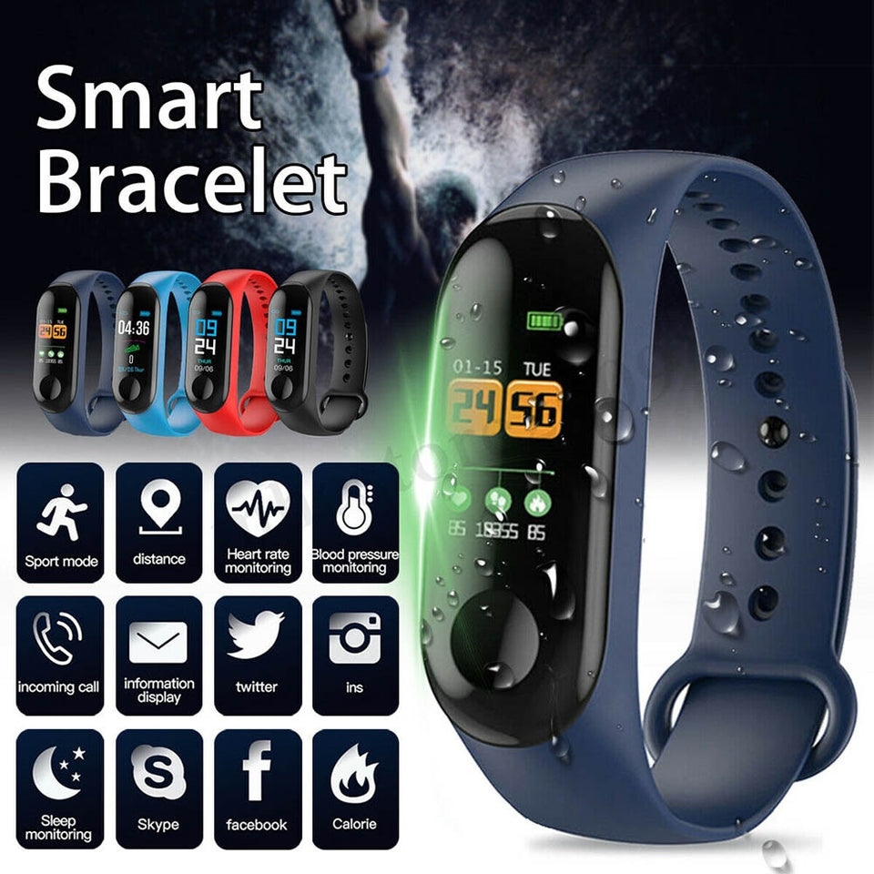 2019 Newly Smart Braclet Heart Rate Sports Waterproof Sleep Monitoring Watch men  watches sport watch