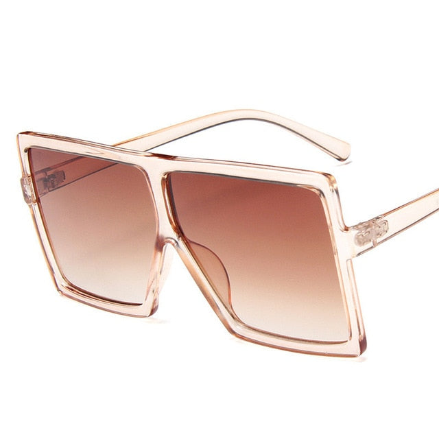 Plastic Oversized Women Sunglasses Square Brand Designer Big Frame Sunglasses For Female UV400 Sun Glasses oculos masculino