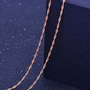 RE 45cm DIY women's chain Necklaces Friendly Copper Wave/Snake/Box Chains Jewelry Beads for Pendant Accessories rose gold J40