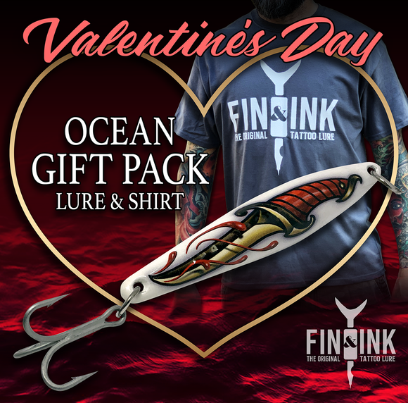 Valentine's Day Gift Pack - Ocean Lure & T-Shirt Combo