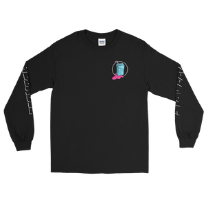 Original Frizzable Text Long Sleeve Shirt (Black)