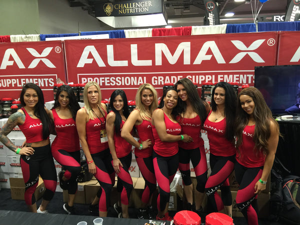 BootyQueen paints the ALLMAX Booth Black and Red