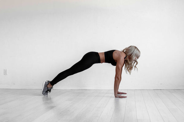 BootyQueen Apparel | Planks are your ab's best friends. Try this move for 30 seconds to tone your core in your next at-home workout.
