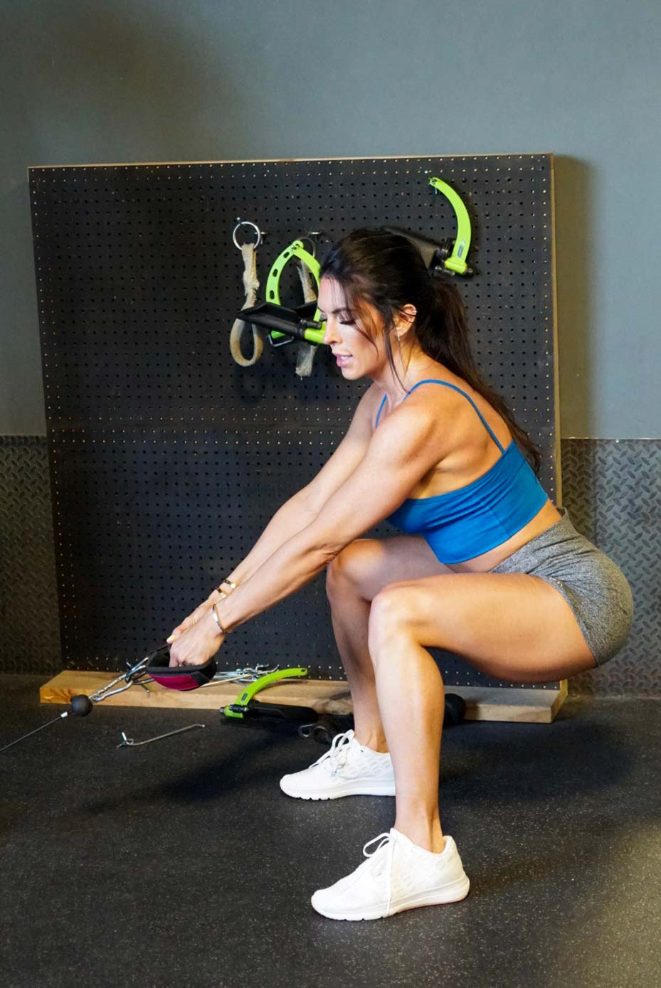 Hotel Workout for On-the-Go Girls | Cable Jump Squats with Weight