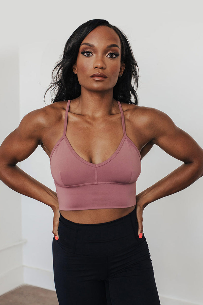 Beyond Basic Sports Bra - Chocolate Plum