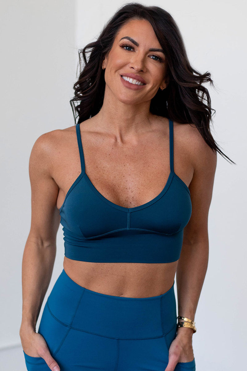 Beyond  Basic Sports Bra - Eclipse Blue