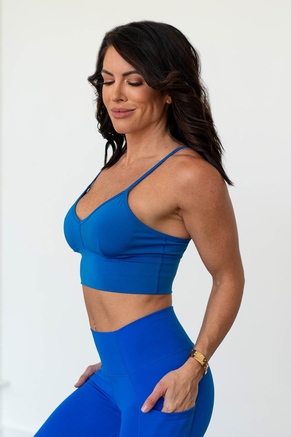 Beyond Basic Sports Bra - Princess Blue