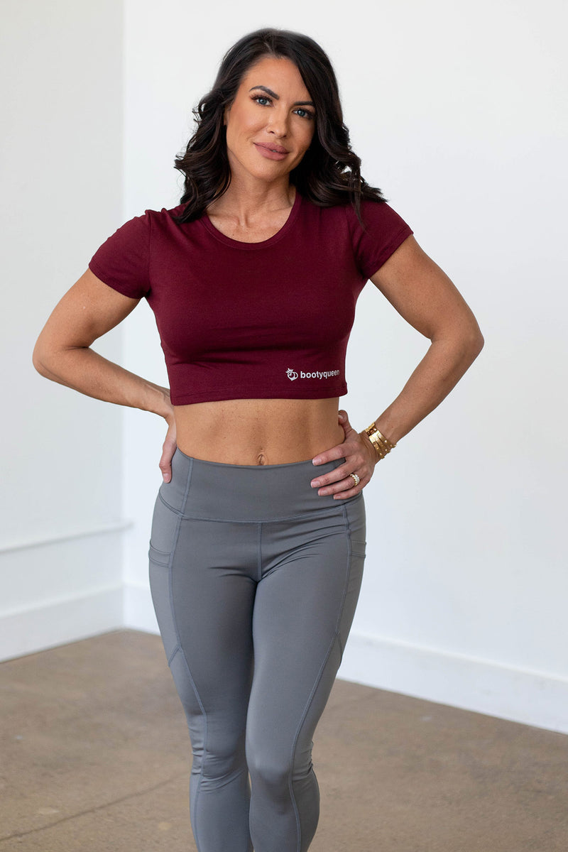 Cropped Tee - Tawny Port