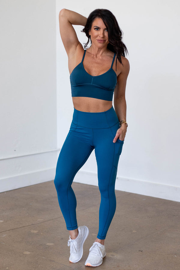 High-Waist Driven Legging- Eclipse