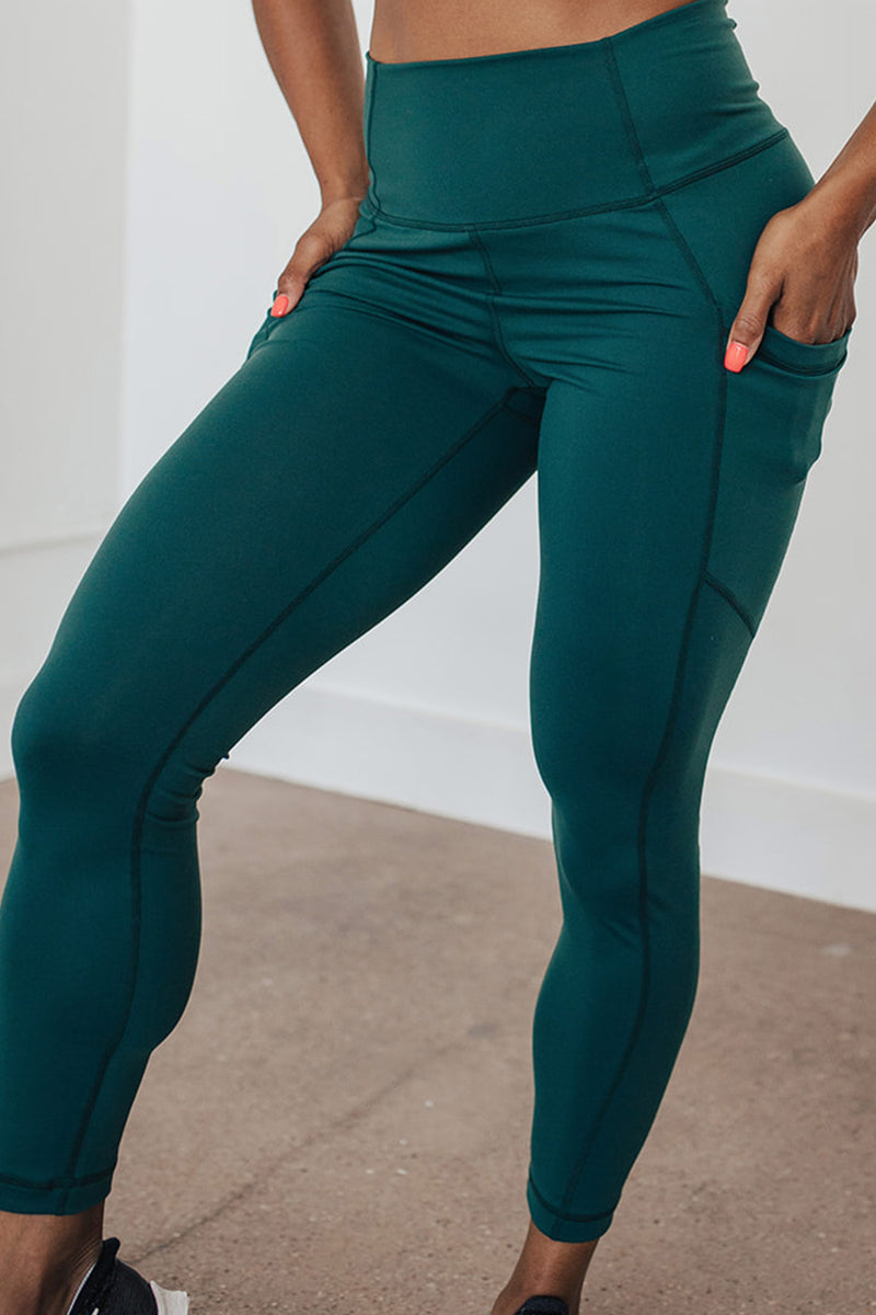 High-Waist Driven Legging- Rainforest