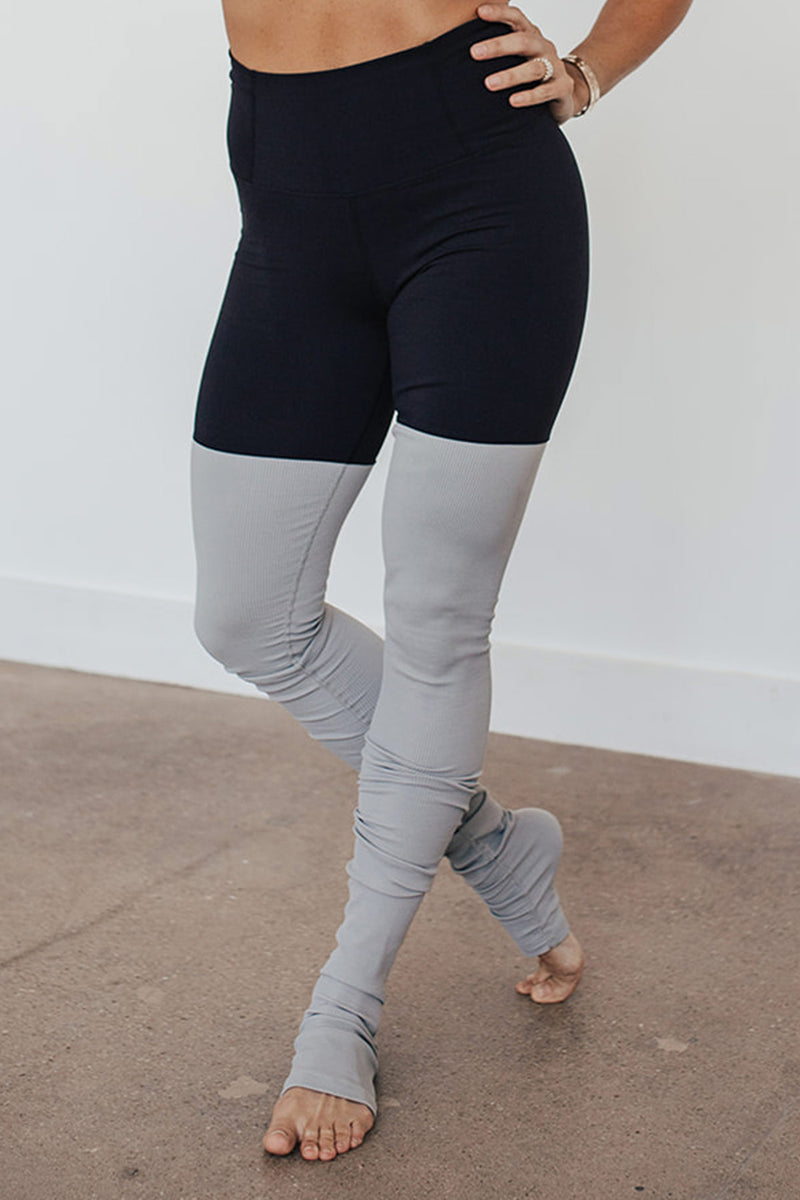 High-Waist Driven Warmer Legging- Black