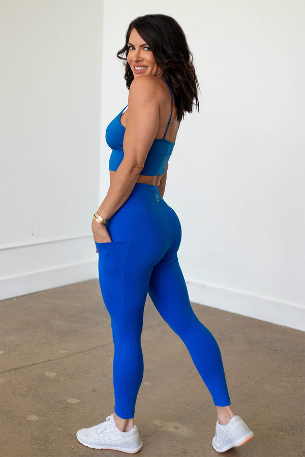 High-Waist Driven Legging- Princess Blue