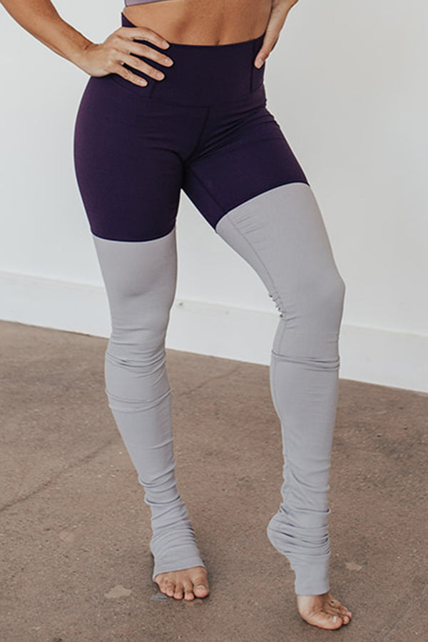 High-Waist Driven Warmer Legging- Blackberry